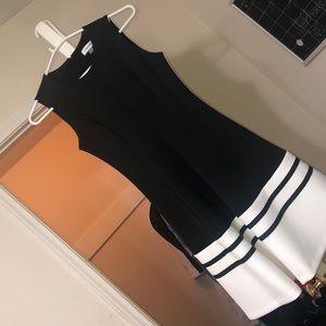 Small Calvin Klein black & white dress